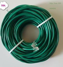 rj11 rj12 cat5e green dsl telephone data cable for centurylink at t etc [ 1000 x 1000 Pixel ]