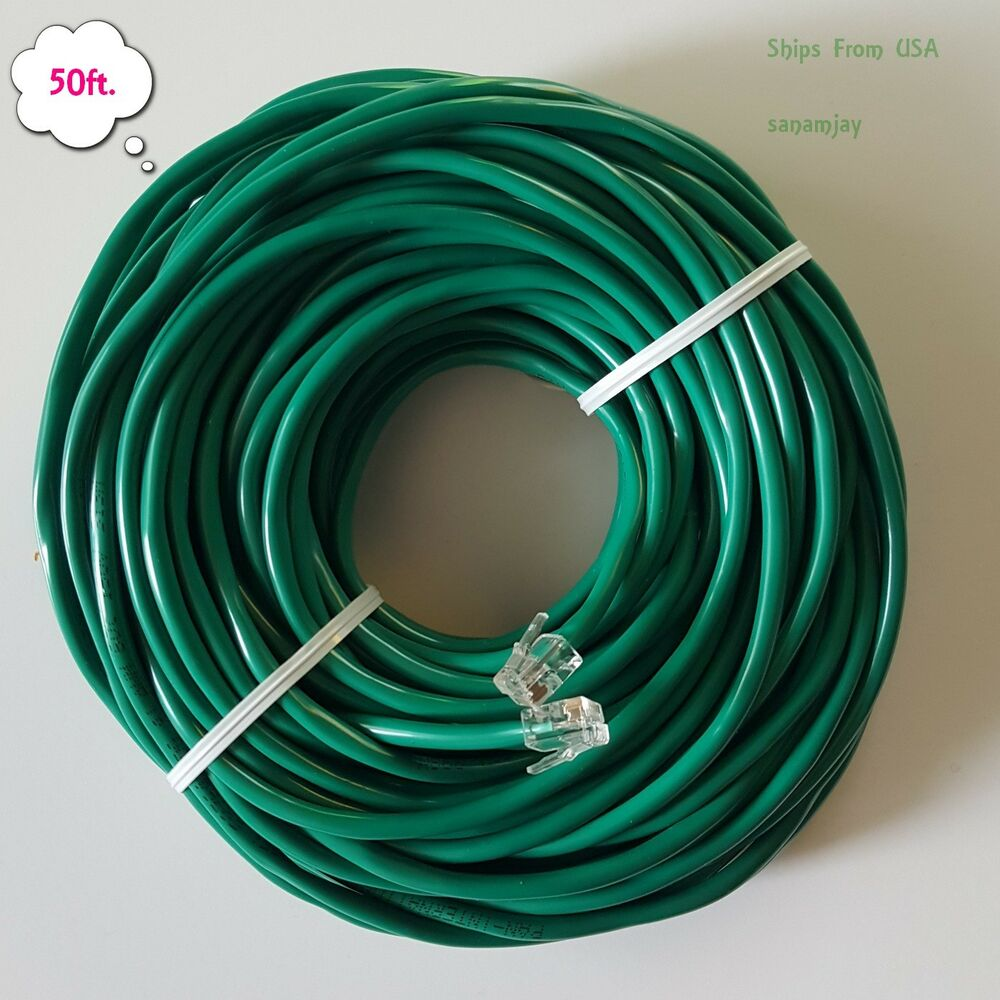 medium resolution of rj11 rj12 cat5e green dsl telephone data cable for centurylink at t etc