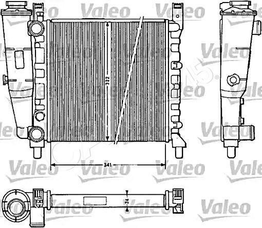Engine Cooling Radiator VALEO Fits FIAT Uno Hatchback 1.0L
