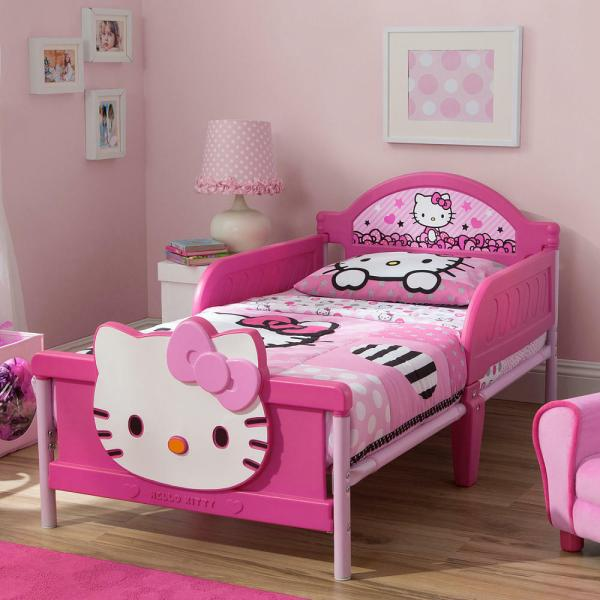 Kitty 3d Toddler Bed - Pink