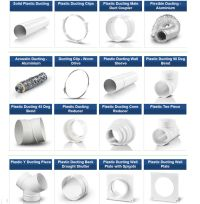 Plastic 5 inch 125mm Ducting Pipe Ventilation Extractor ...