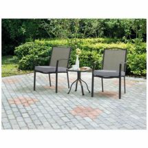 3 Piece Bistro Set Outdoor Chairs & Table Patio Furniture