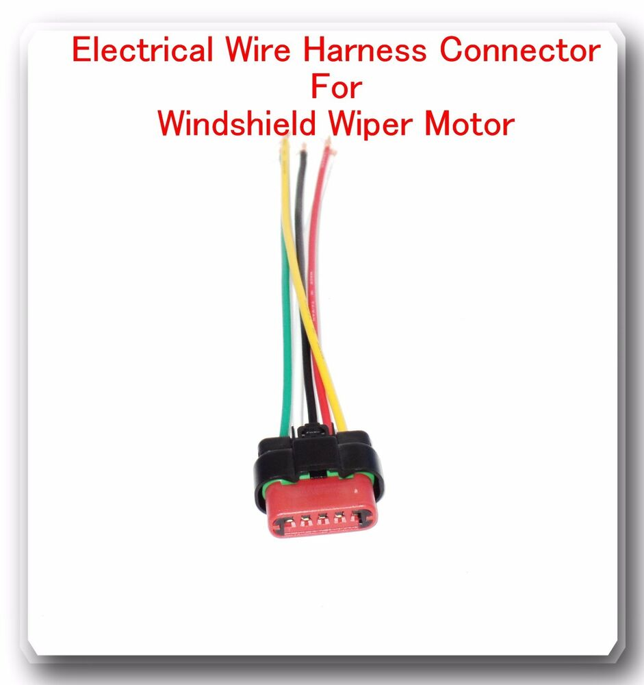 medium resolution of 5 wire harness pigtail connector for windshield wiper motor fits ford 601871667431 ebay