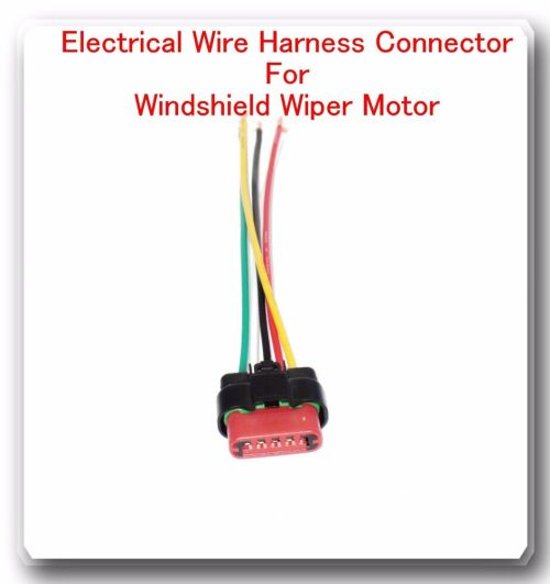 small resolution of 5 wire harness pigtail connector for windshield wiper motor fits ford 601871667431 ebay