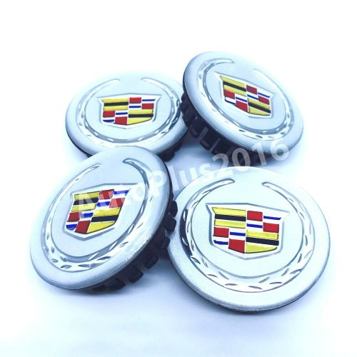 small resolution of details about new cadillac set 4 center wheel wheels rim rims hub hubs cap caps 66mm silver dt