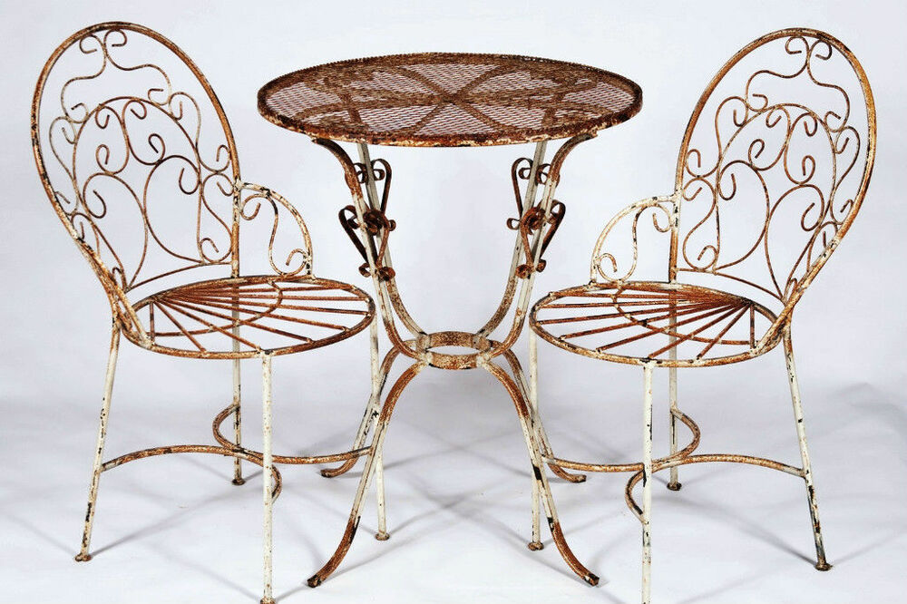 wrought iron chair outdoor wicker cushions 2 chairs and table patio set lawn garden furniture details about