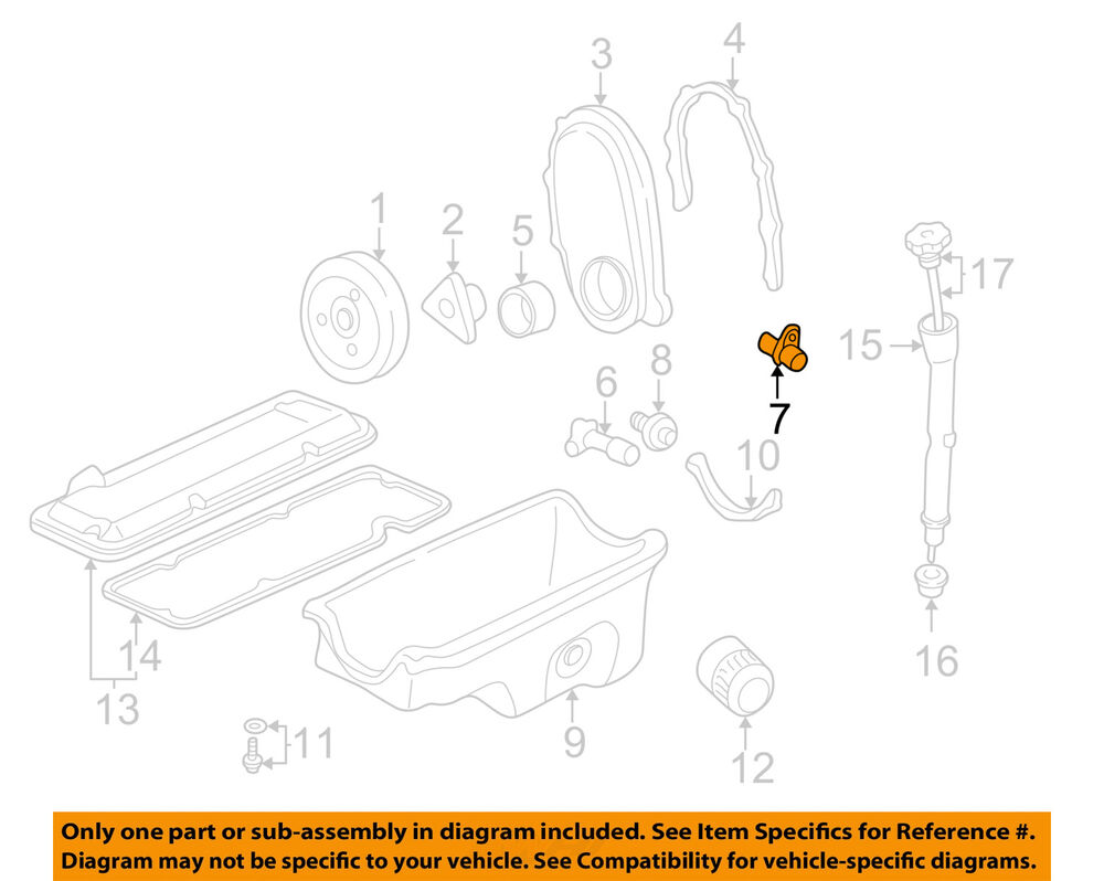 medium resolution of details about gm oem engine crankshaft crank position sensor cps 10456614