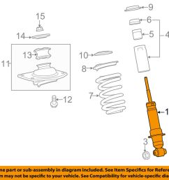 details about chevrolet gm oem 12 15 camaro rear strut shock 19300041 [ 1000 x 798 Pixel ]