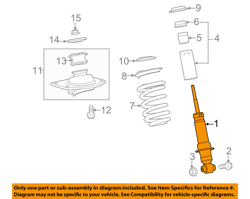 medium resolution of details about chevrolet gm oem 12 15 camaro rear strut shock 19300041