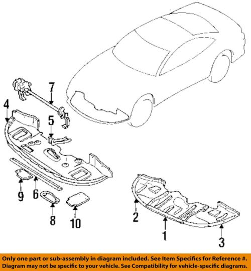 small resolution of details about mitsubishi oem 1999 3000gt spoiler front bumper air deflector right mr396922