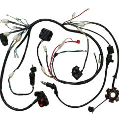 details about full electric wiring harness cdi coil solenoid gy6 150cc atv quad buggy lifan td [ 1000 x 1000 Pixel ]