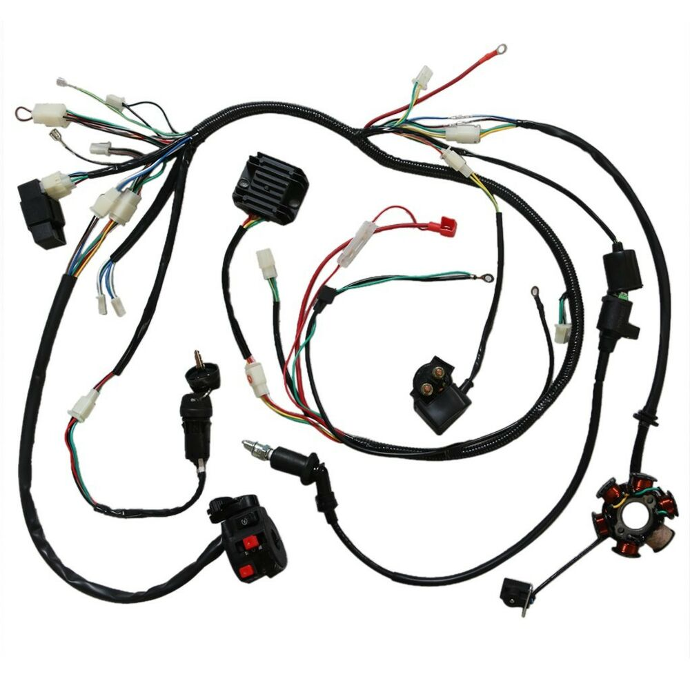 hight resolution of details about full electric wiring harness cdi coil solenoid gy6 150cc atv quad buggy lifan td