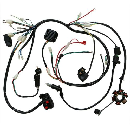 small resolution of details about full electric wiring harness cdi coil solenoid gy6 150cc atv quad buggy lifan td