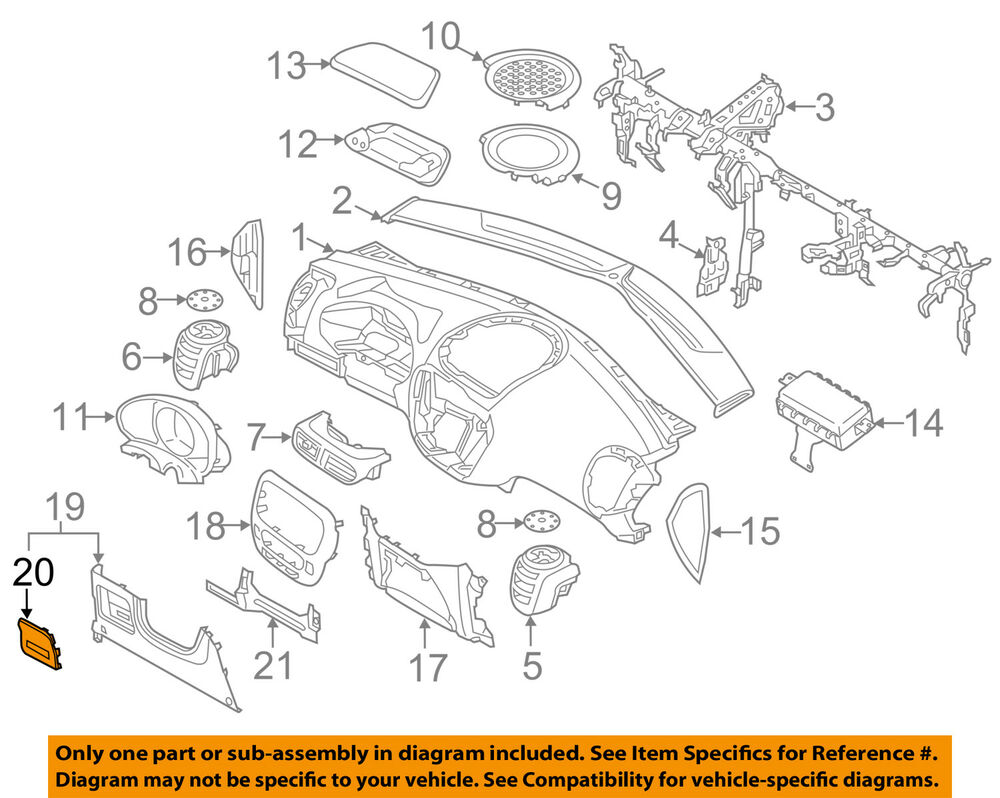 hight resolution of details about kia oem 17 18 soul instrument panel dash fuse box cover 84753b2ab0eq