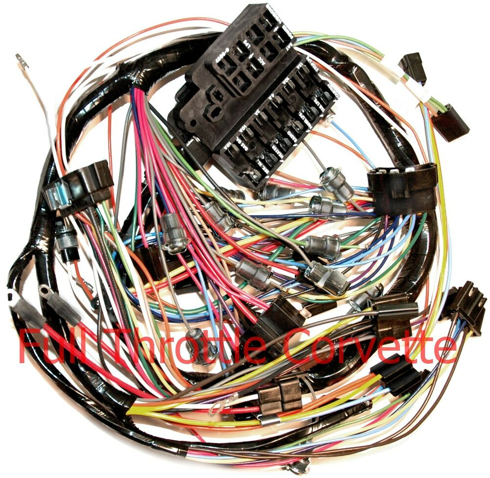 hight resolution of details about 1966 66 corvette dash wiring harness new