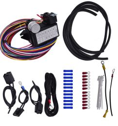 details about 12 circuit universal wire harness 14 fuse 12v street hot rat muscle car hot rod [ 1000 x 834 Pixel ]
