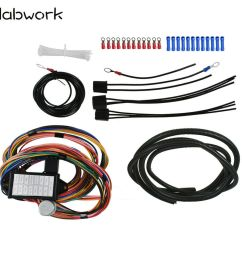 details about 14 circuit universal wire harness 14 fuse 12v street hot rat muscle rod wiring [ 1000 x 915 Pixel ]