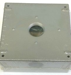 ace three holes 3 4 all weather weatherproof electrical wiring junction box 82901017820 ebay [ 1000 x 963 Pixel ]