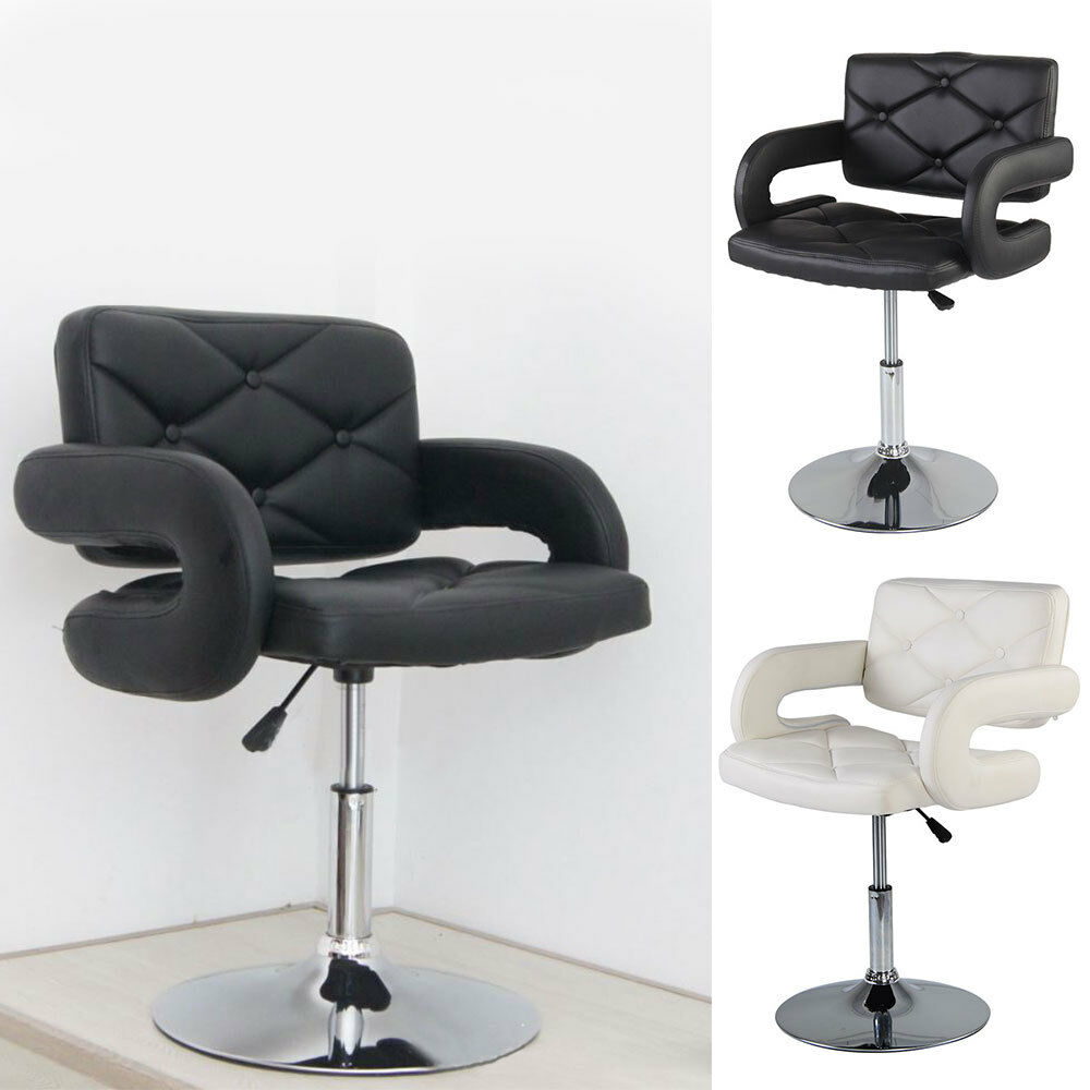 white barber chair uk armless slipcover diy black quilted leather style tub beauty details about hairdresser salon