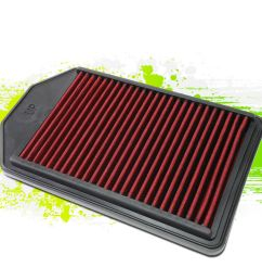 details about reusable durable hi flow drop in air filter panel for 07 09 honda cr v 2 4l red [ 1000 x 1000 Pixel ]