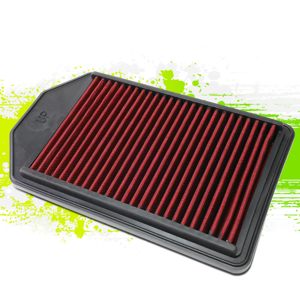 hight resolution of details about reusable durable hi flow drop in air filter panel for 07 09 honda cr v 2 4l red