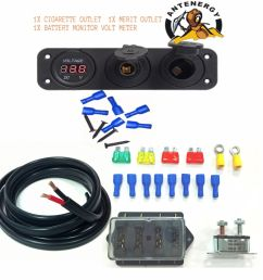 details about 12v 24v dual battery box diy kit 10m 6mm twin core 4 way fuse volt meter car [ 1000 x 1000 Pixel ]