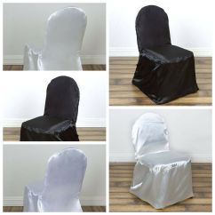 Banquet Chair Covers Wholesale Farmhouse Dining Chairs Satin Wedding Reception Party Ceremony Supplies Details About