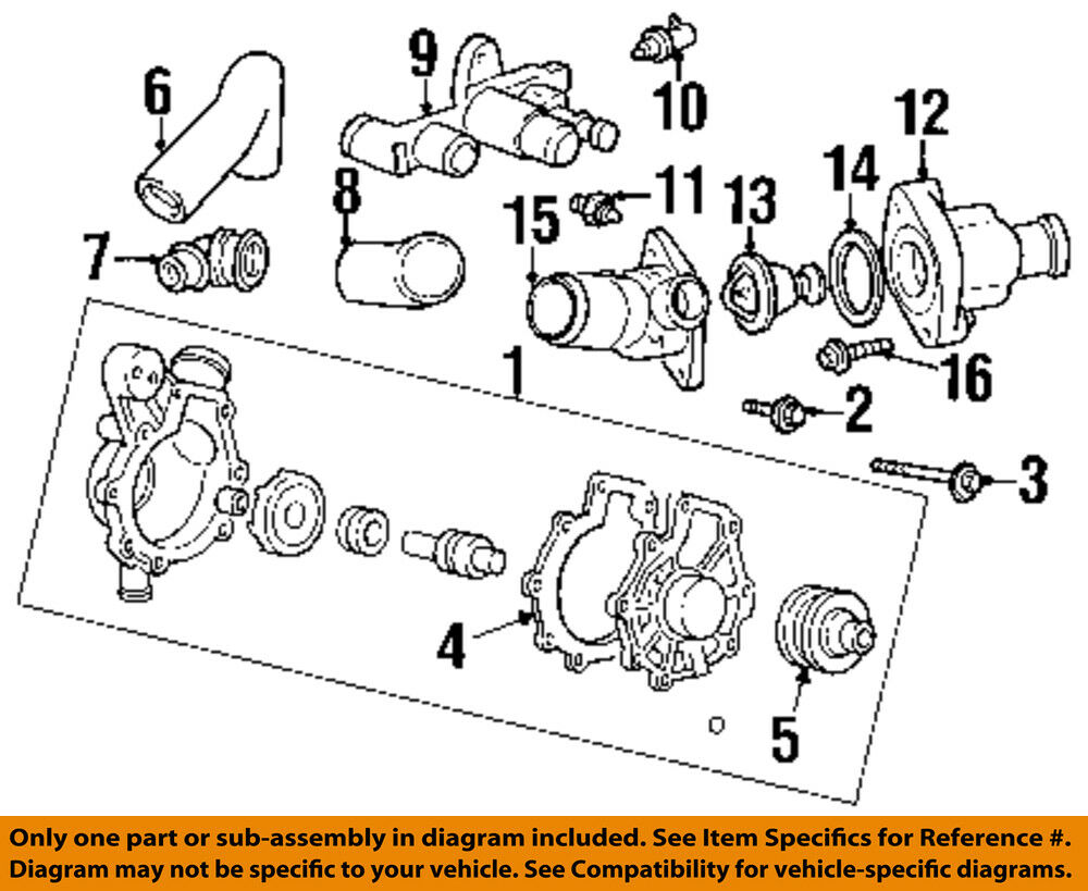 hight resolution of ford oem water pump housing f5rz8k528cc ebay diagram 99 mercury cougar water pump housing 2000 mercury cougar
