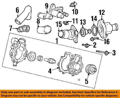 small resolution of ford oem water pump housing f5rz8k528cc ebay diagram 99 mercury cougar water pump housing 2000 mercury cougar