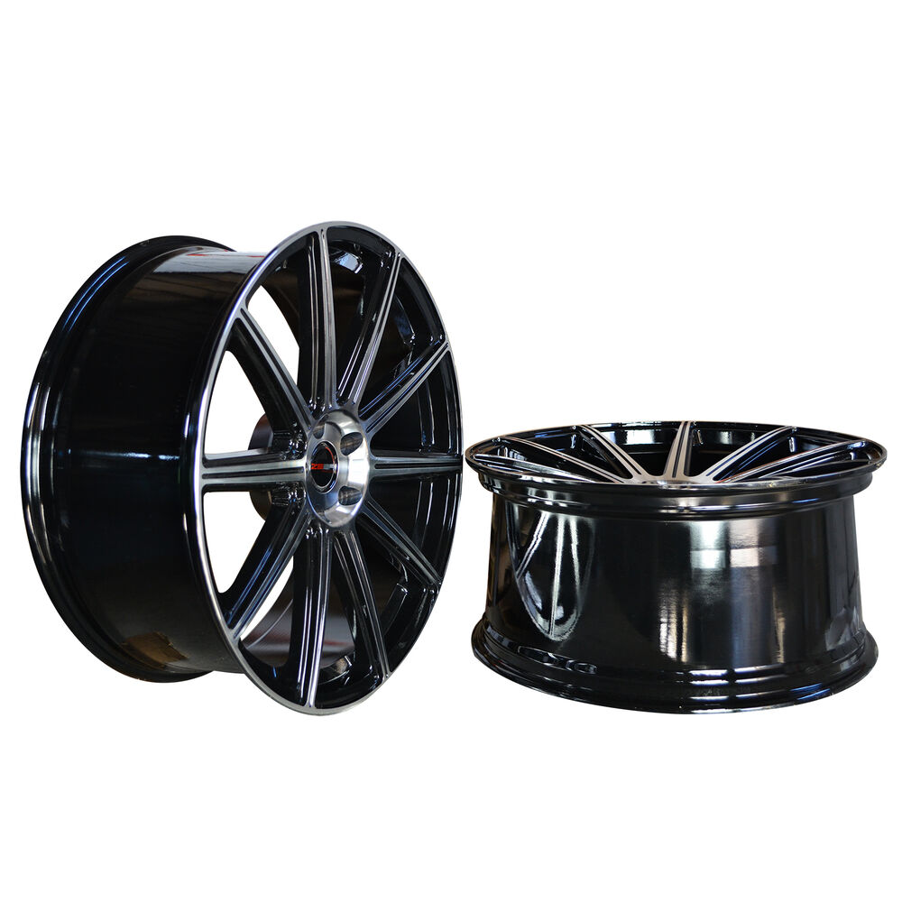 hight resolution of details about 4 gwg wheels 20 inch staggered black mod rims fits lexus gs 300 2000 2005