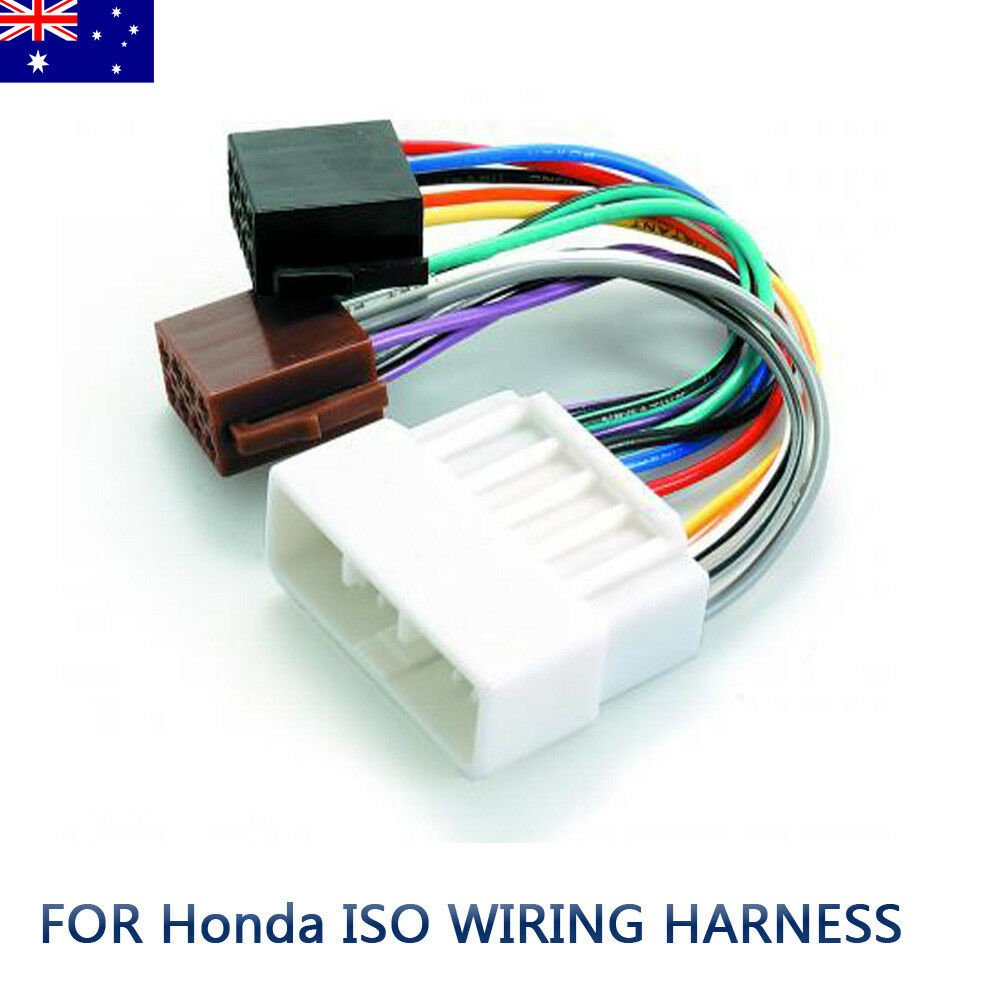 medium resolution of details about for honda iso wiring harness stereo radio plug lead loom connector adaptor au