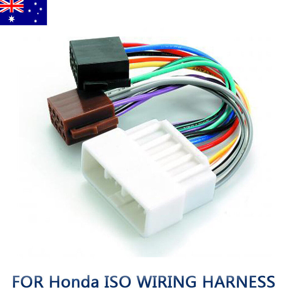 hight resolution of details about for honda iso wiring harness stereo radio plug lead loom connector adaptor au