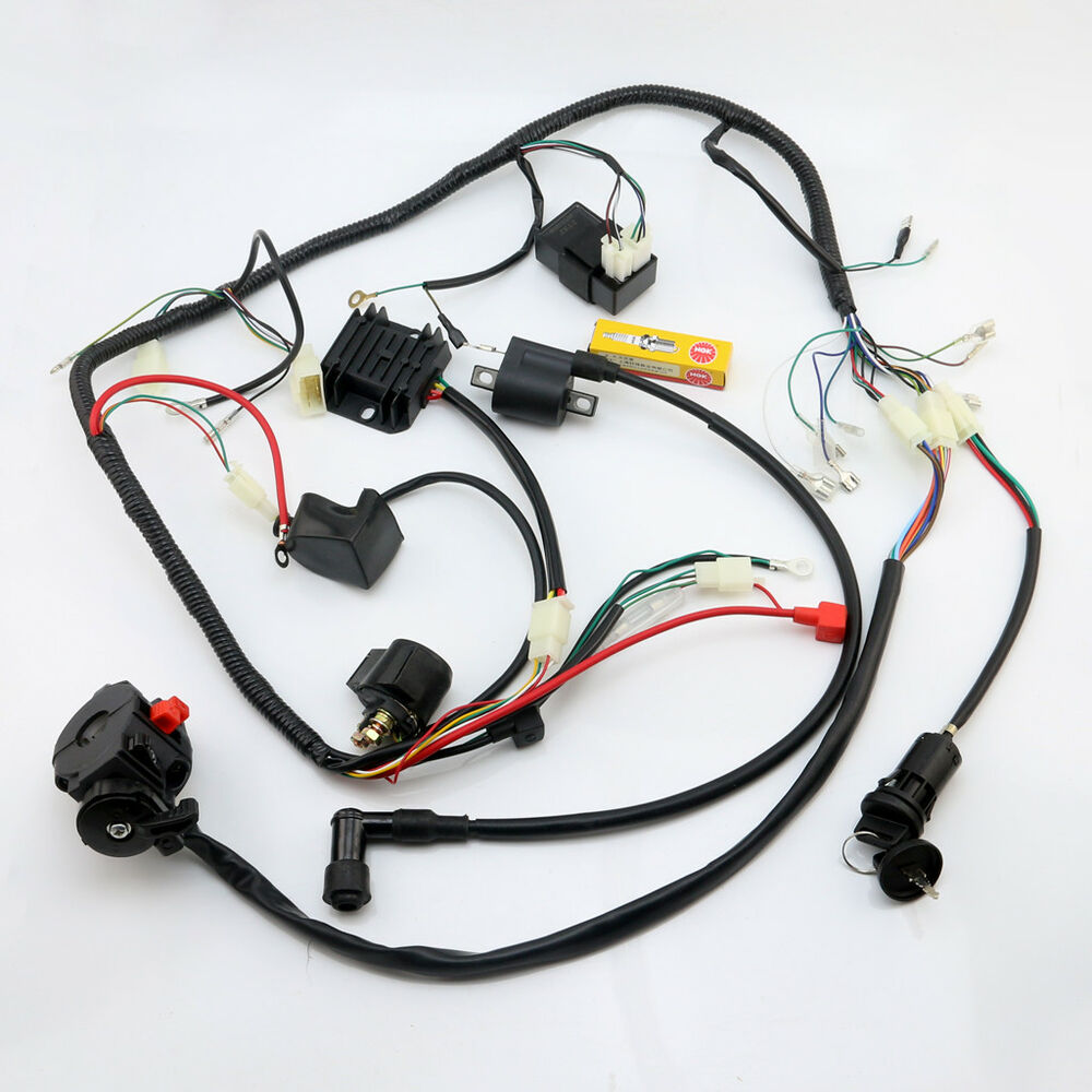 medium resolution of details about full atv wiring harness loom ignition coil cdi 150cc 200cc 250cc 300cc zongshen
