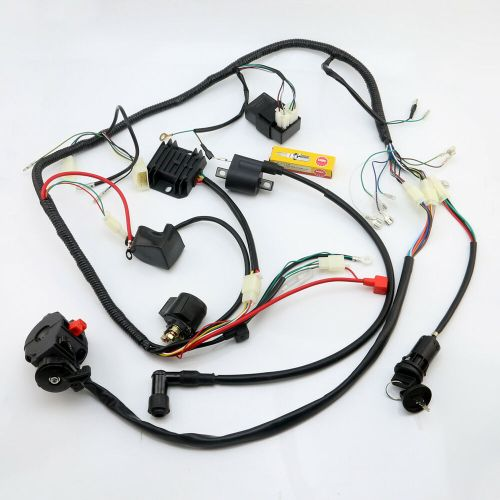 small resolution of details about full atv wiring harness loom ignition coil cdi 150cc 200cc 250cc 300cc zongshen