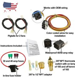 185 165 dual electric cooling fan wiring harness install thermostat details about 185 165 dual electric [ 1000 x 1000 Pixel ]