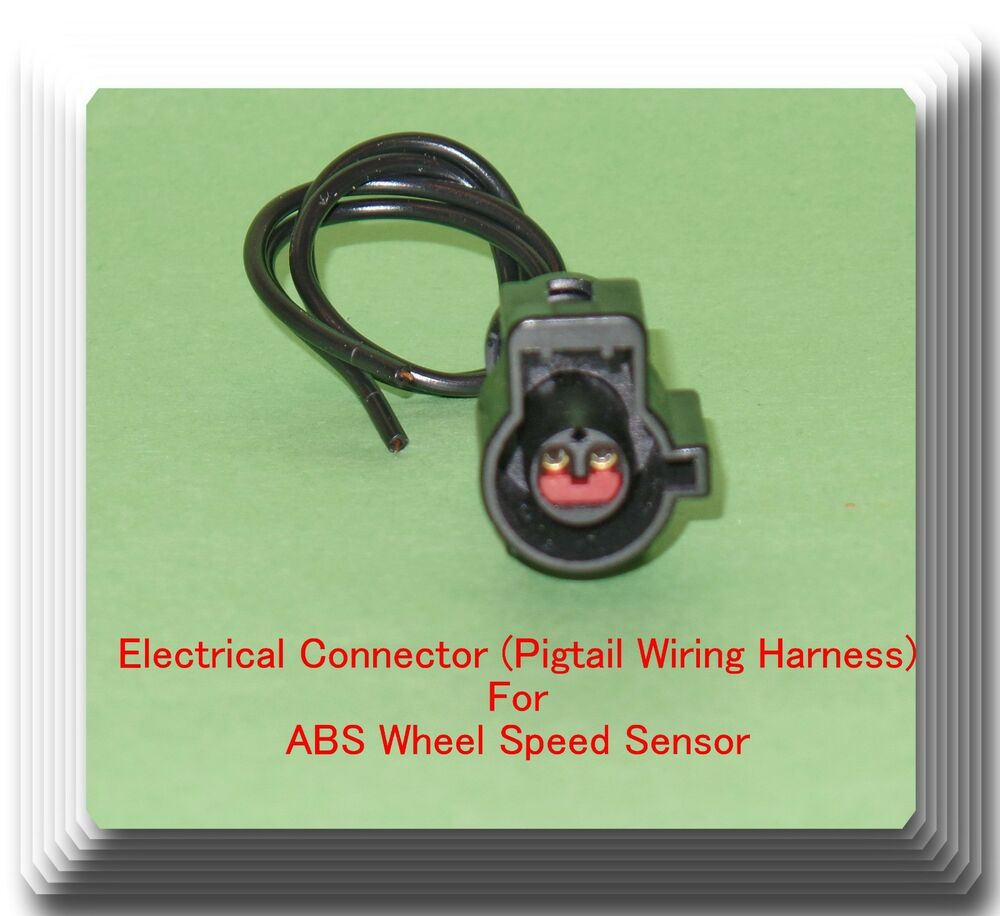hight resolution of female electrical connector pigtail wiring harness of abs wheel speed sensor 601871712513 ebay