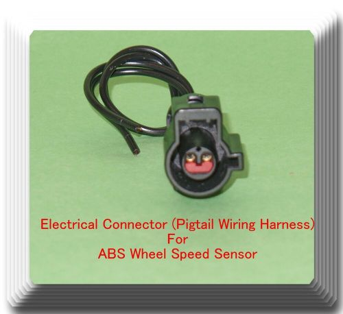 small resolution of female electrical connector pigtail wiring harness of abs wheel speed sensor 601871712513 ebay