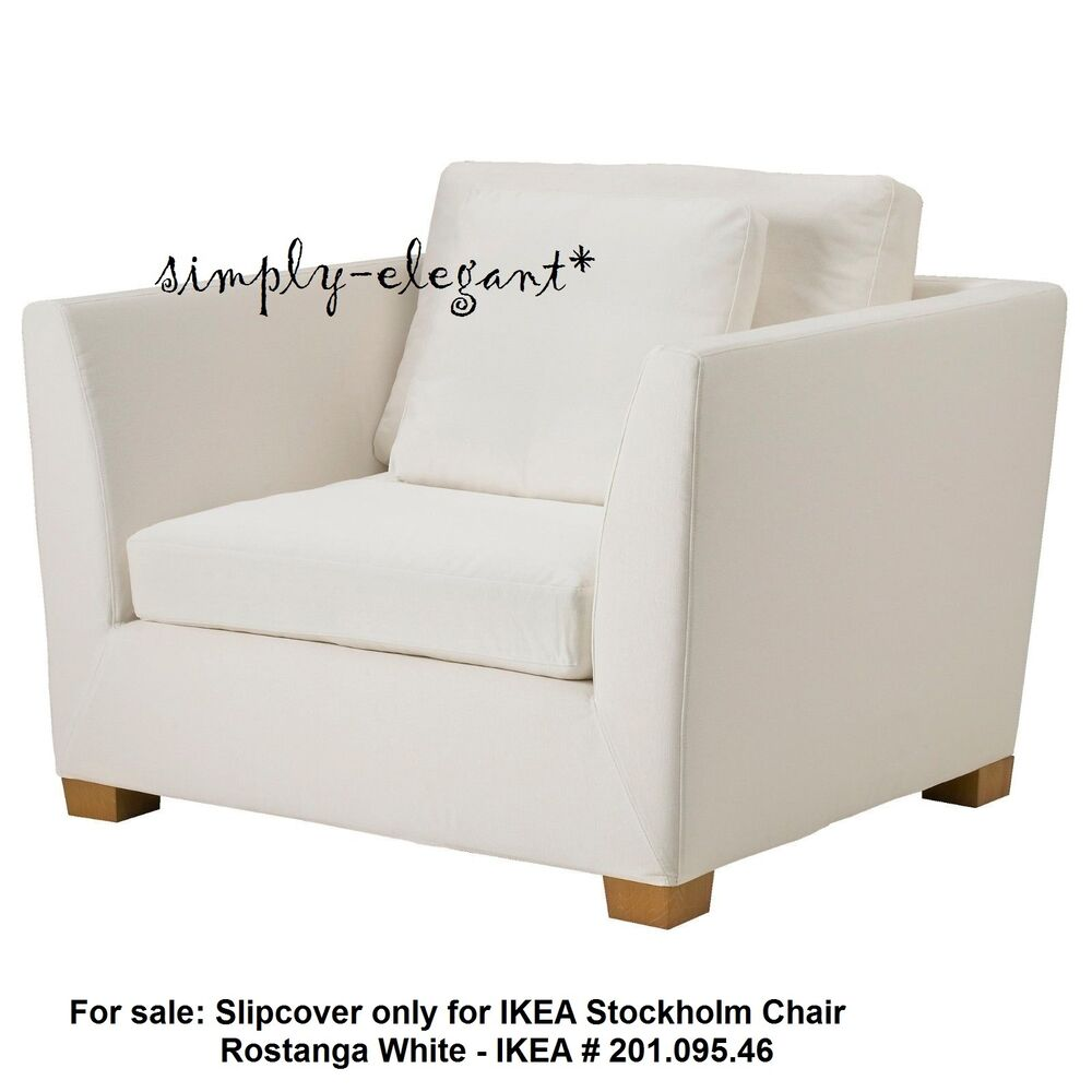 Cover For Chair Ikea Cover For Ikea Stockholm 1 5 Seat Chair Rostanga White Armchair Slipcover Ebay