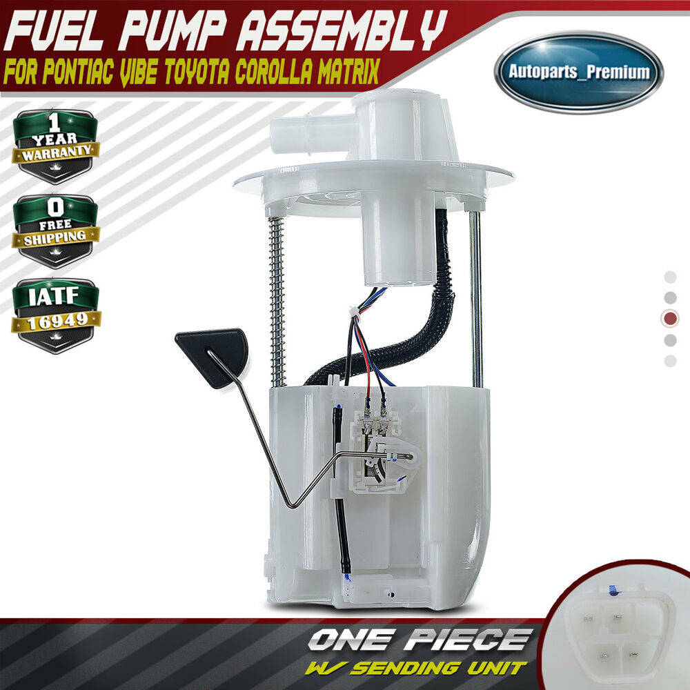 hight resolution of fuel pump module assembly for 09 10 pontiac vibe 09 18 toyota corolla 1 8l 2 4l ebay