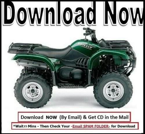small resolution of details about yamaha grizzly yfm 660 2002 2006 service manual on cd free shipping