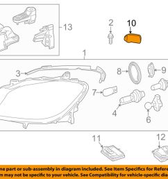 details about mercedes mercedes benz oem ml350 headlight head light lamp cap right 1668260424 [ 1000 x 798 Pixel ]