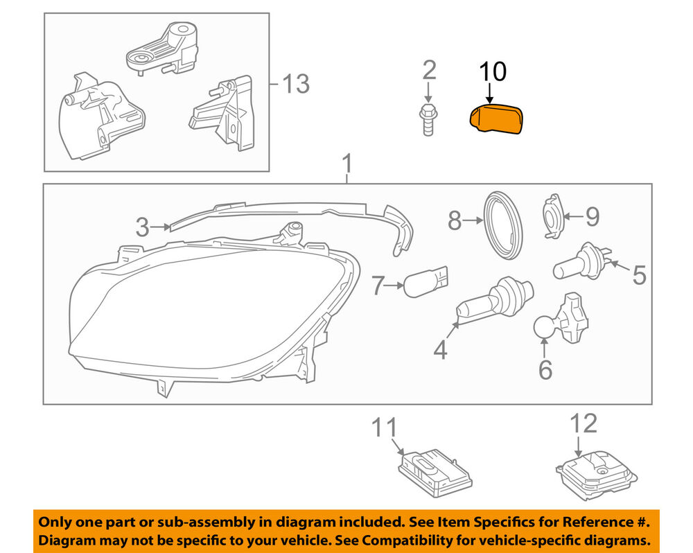hight resolution of details about mercedes mercedes benz oem ml350 headlight head light lamp cap right 1668260424