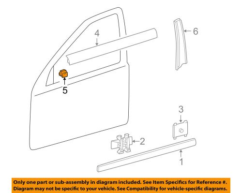 small resolution of details about mercedes oem 96 09 e320 rear door belt weather strip clip 2029880078