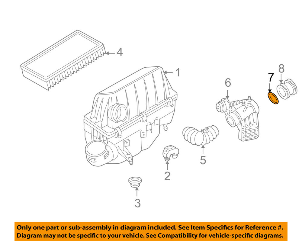 hight resolution of details about mercedes mercedes benz oem 96 97 e300 3 0l l6 air cleaner intake seal 6049970045