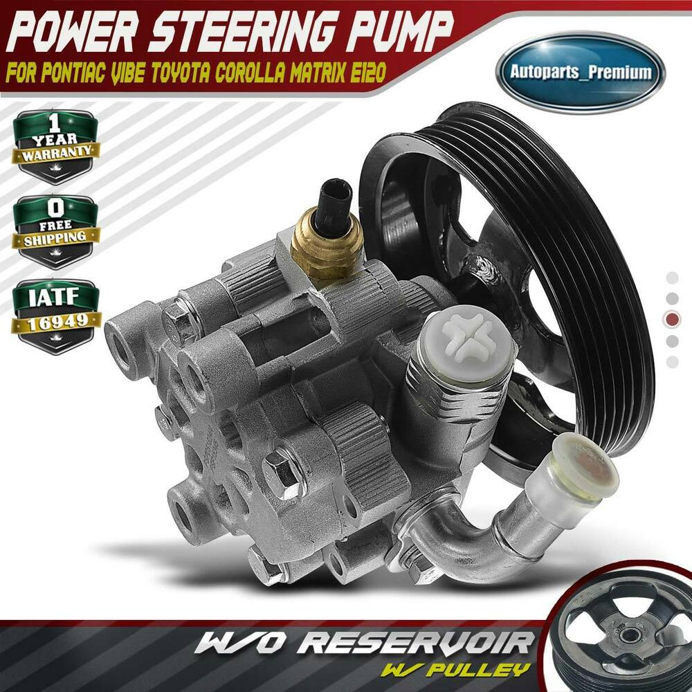 hight resolution of details about power steering pump w o reservoir for 03 08 pontiac vibe toyota corolla matrix