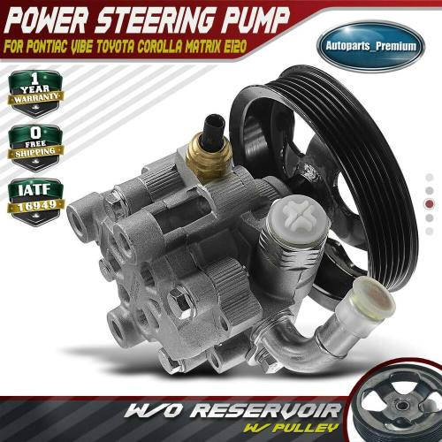 small resolution of details about power steering pump w o reservoir for 03 08 pontiac vibe toyota corolla matrix