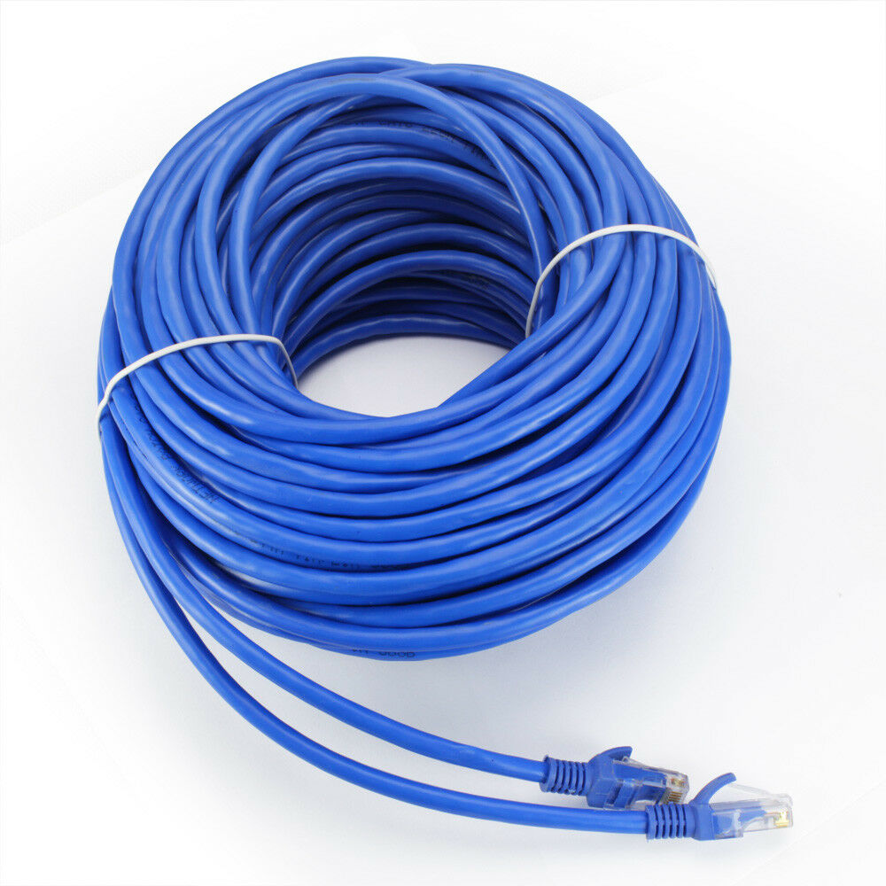 hight resolution of details about cat6 100ft utp cable solid 24awg white 550mhz network ethernet bulk wire lan
