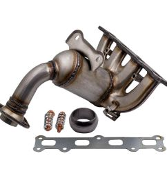 details about exhaust manifold catalytic converter headers fit for caliber compass patriot 2 4 [ 1000 x 1000 Pixel ]