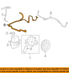 details about chevrolet gm oem 06 07 monte carlo pump hose power steering cooler tube 19177770 [ 1000 x 798 Pixel ]