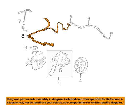 small resolution of details about chevrolet gm oem 06 07 monte carlo pump hose power steering cooler tube 19177770